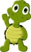 20721059-simpatico-cartone-animato-tartaruga-verde